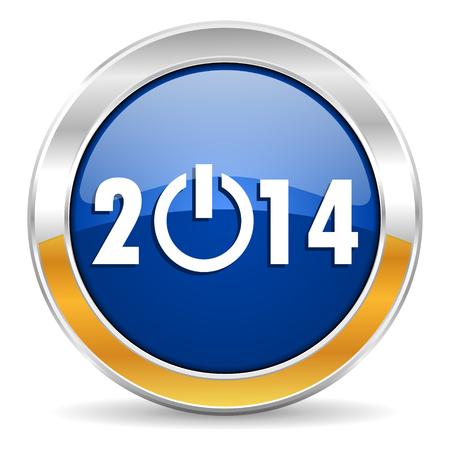 year 2014 icon Stock Photo - 23430522