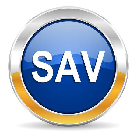 smarthone: sav icon  Stock Photo