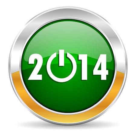 year 2014 icon Stock Photo - 23439599