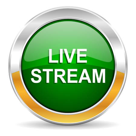 live stream tv: live stream icon  Stock Photo
