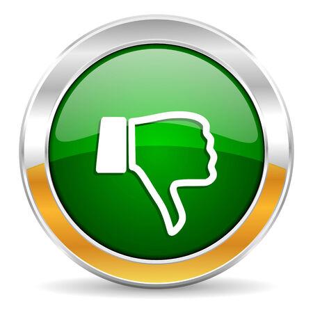 smarthone: dislike icon  Stock Photo