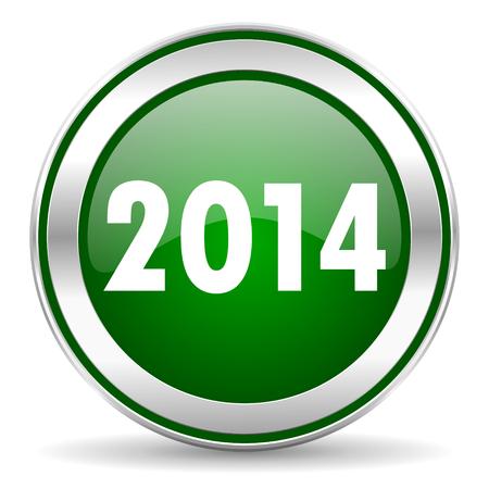 year 2014 icon Stock Photo - 23665368