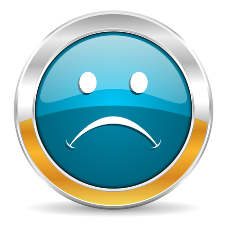 negate: cry icon  Stock Photo