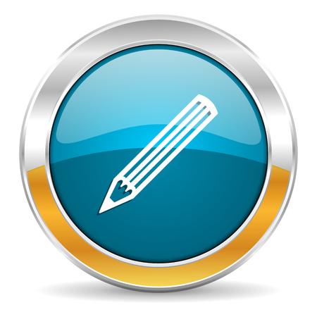 pencil icon Stock Photo - 23714581