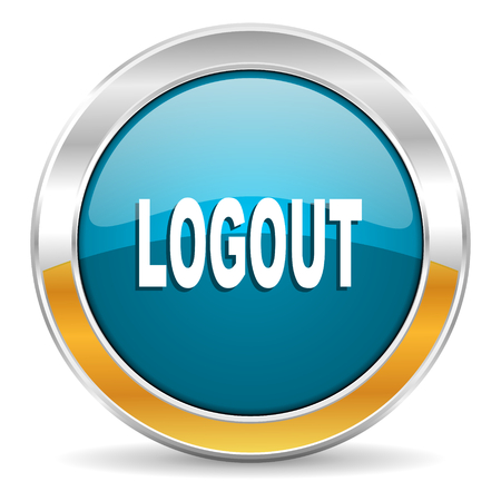 logout icon  Stock Photo