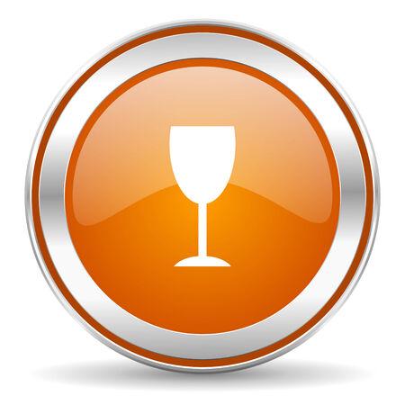 champain: circle web icon Stock Photo