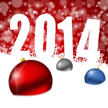 new year 2014 illustration Stock Illustration - 24549524