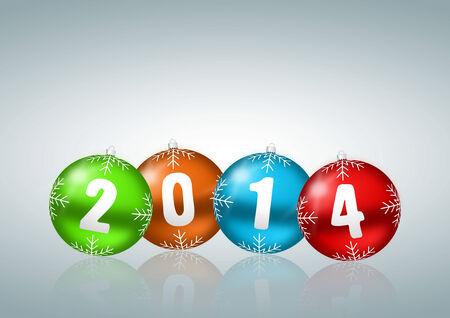 new year 2014 illustration Stock Illustration - 24549525