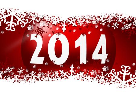 new year 2014 illustration Stock Illustration - 24549526