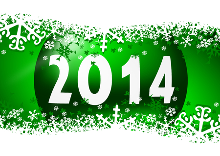 2014 new years illustration with christmas ball Stock Illustration - 24587951