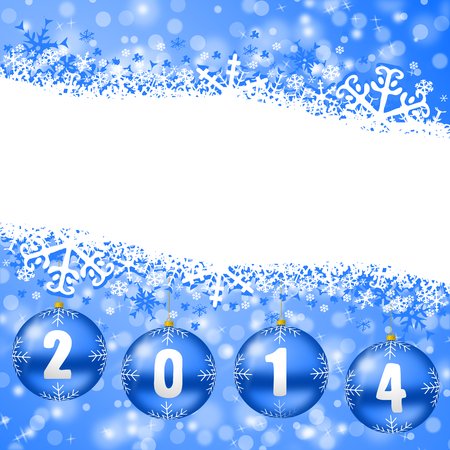 2014 new years illustration with christmas balls illustration