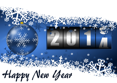 2014 new year illustration with counter illustration