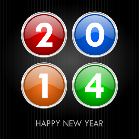 2014 new years illustration Stock Illustration - 24587958