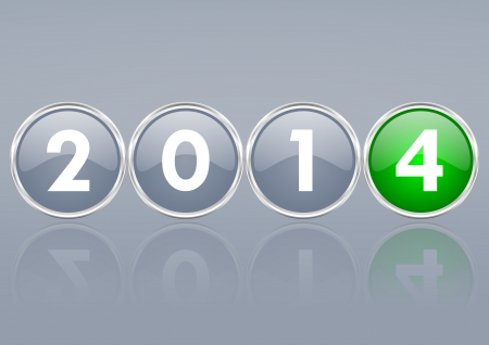 new years: 2014 new years illustration Stock Photo