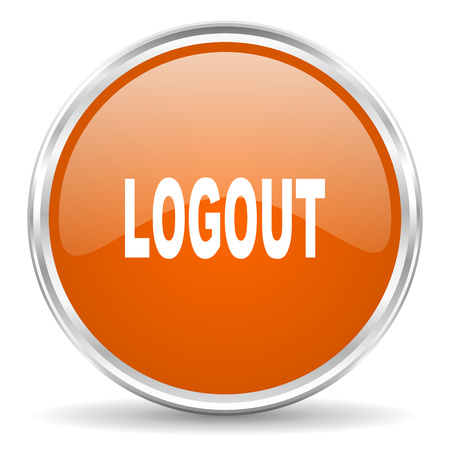Log Out: web button Stock Photo