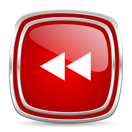 rewind icon: web button Stock Photo