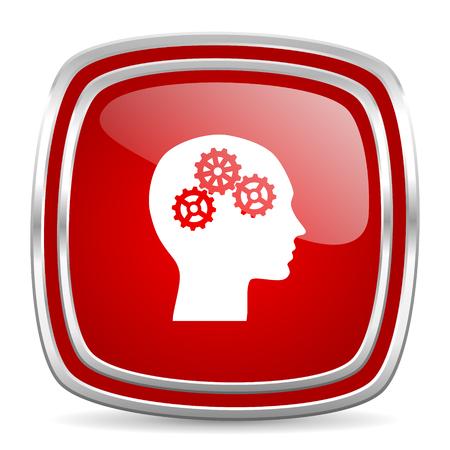 brainy: web button Stock Photo