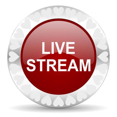 live stream tv: web button Stock Photo