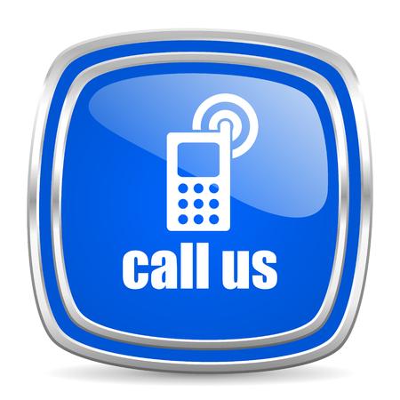call us: web button Stock Photo