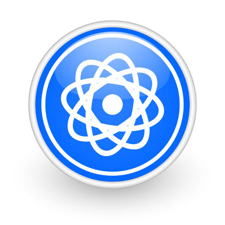 blue circle web button photo