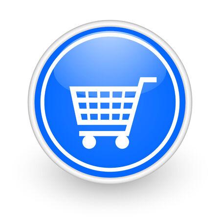 blue circle web button photo