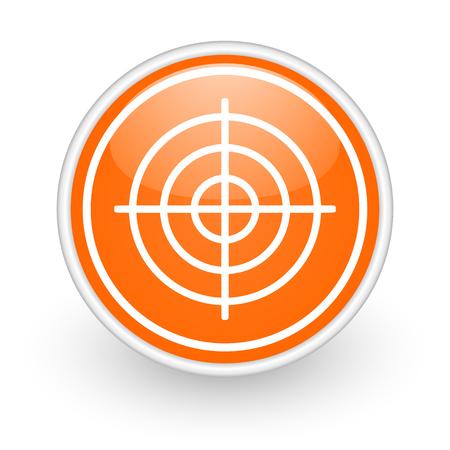 validate: orange web button on white background Stock Photo