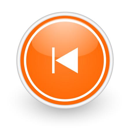 orange web button on white background photo