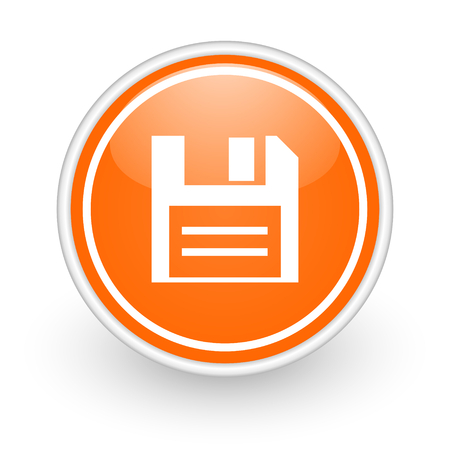 orange web button on white background photo