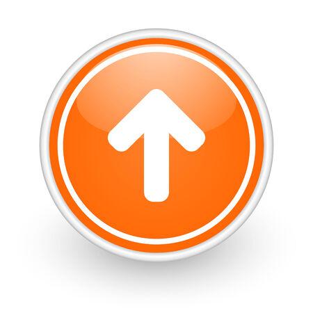 orange web button on white background Stock Photo - 25589794