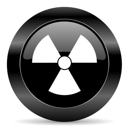 gamma radiation: black circle web button on white background
