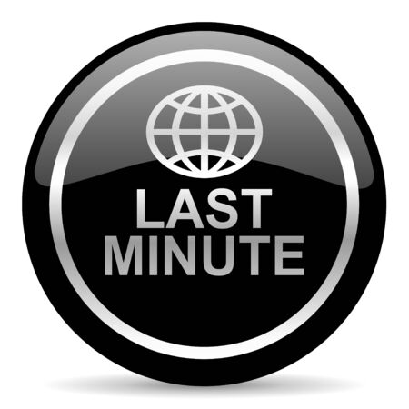 black web button on white background photo
