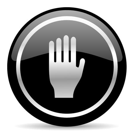 the coachman: black web button on white background