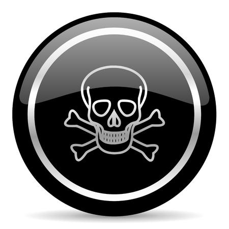 black web button on white background Stock Photo - 25889813