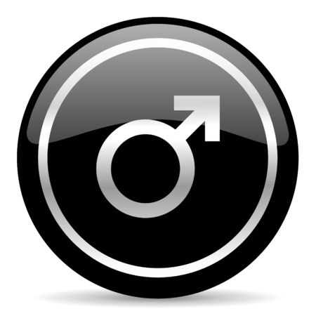 black web button on white background photo