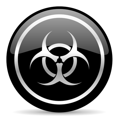 bacterioa: black web button on white background