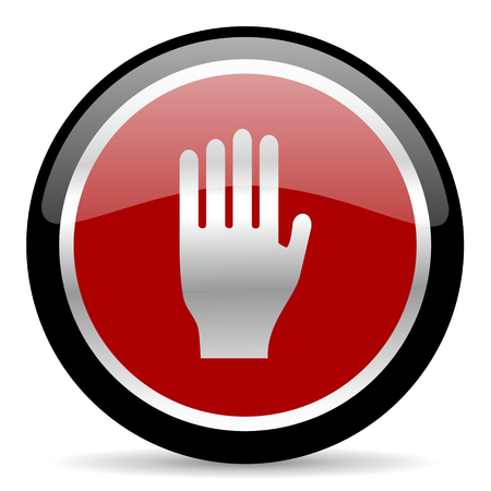 red glossy web button on white background Stock Photo - 26025595