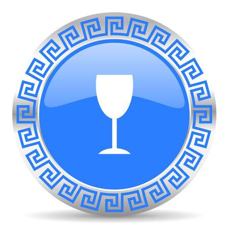 champain: blue circle web button