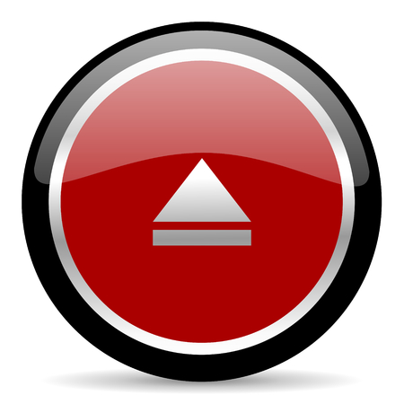 red glossy web button on white background Stock Photo - 26027274