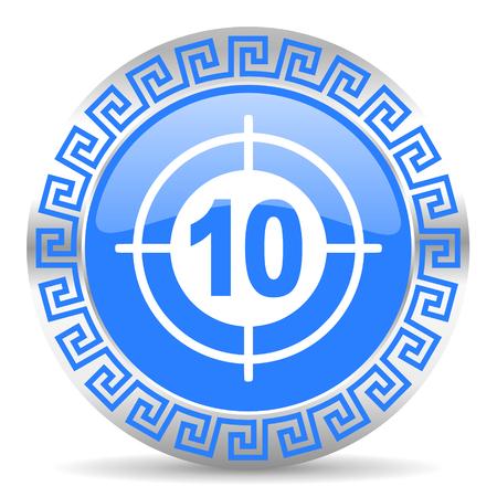 blue circle web button Stock Photo - 26026619