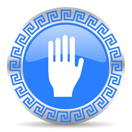 blue circle web button Stock Photo - 26028516