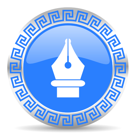 blue circle web button
