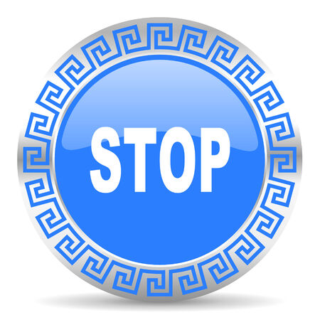 blue circle web button Stock Photo - 26024757
