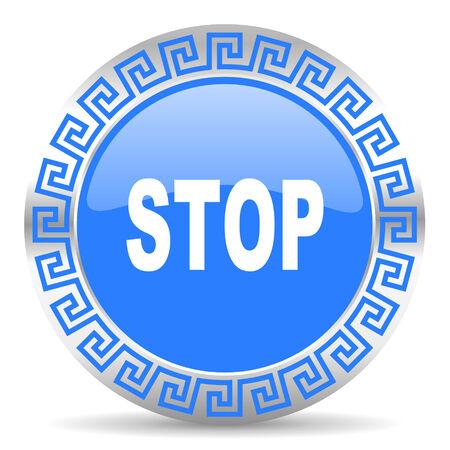 proscribed: blue circle web button