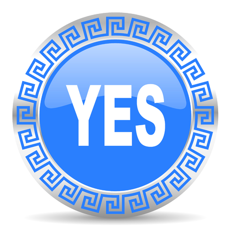 blue circle web button Stock Photo - 26028709