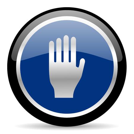 blue web button Stock Photo - 26087842