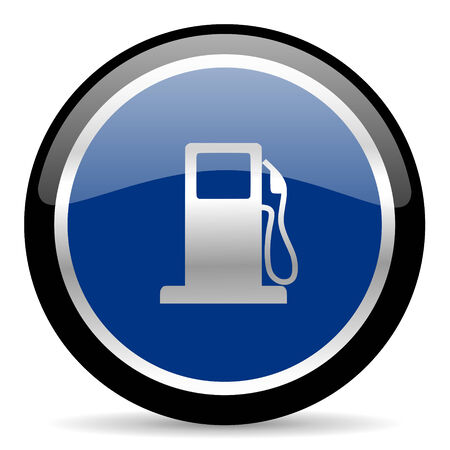 bio diesel: blue web button Stock Photo