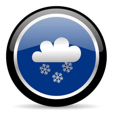 meteo: blue web button Stock Photo