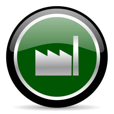 industrialist: green web button Stock Photo
