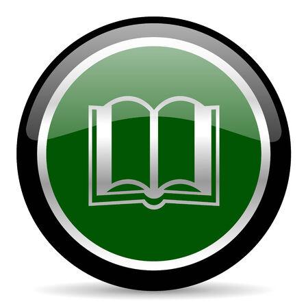 guestbook: green web button Stock Photo