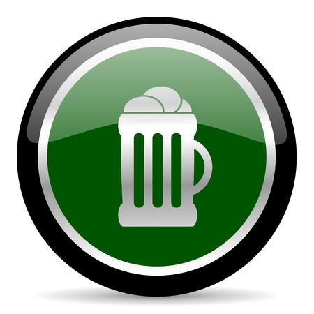 green web button Stock Photo